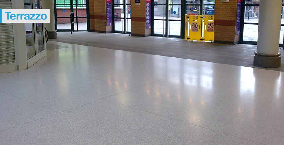Anti Slip Terrazzo Treatment For Shopping Centre Flooring
