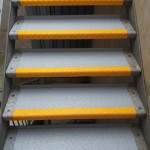 Slippery Metal Steps