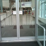 Non-slip entrance flooring