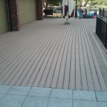 slippery timber decking
