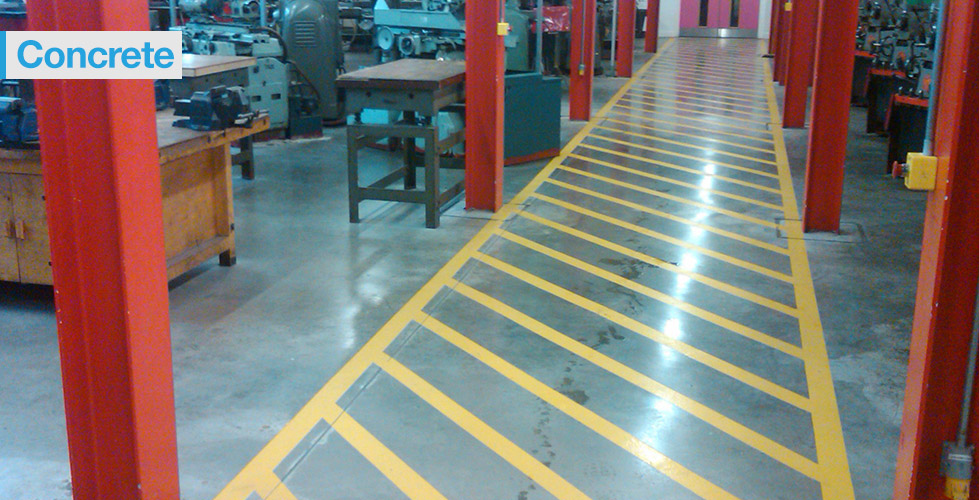 Non-slip & anti-slip concrete flooring treatment