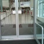Non-slip entrance flooring